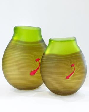 Robert-Wynne-Denizen-Glass-Lime-Terrain-Lge-22cm-Sml-17cm-325-215