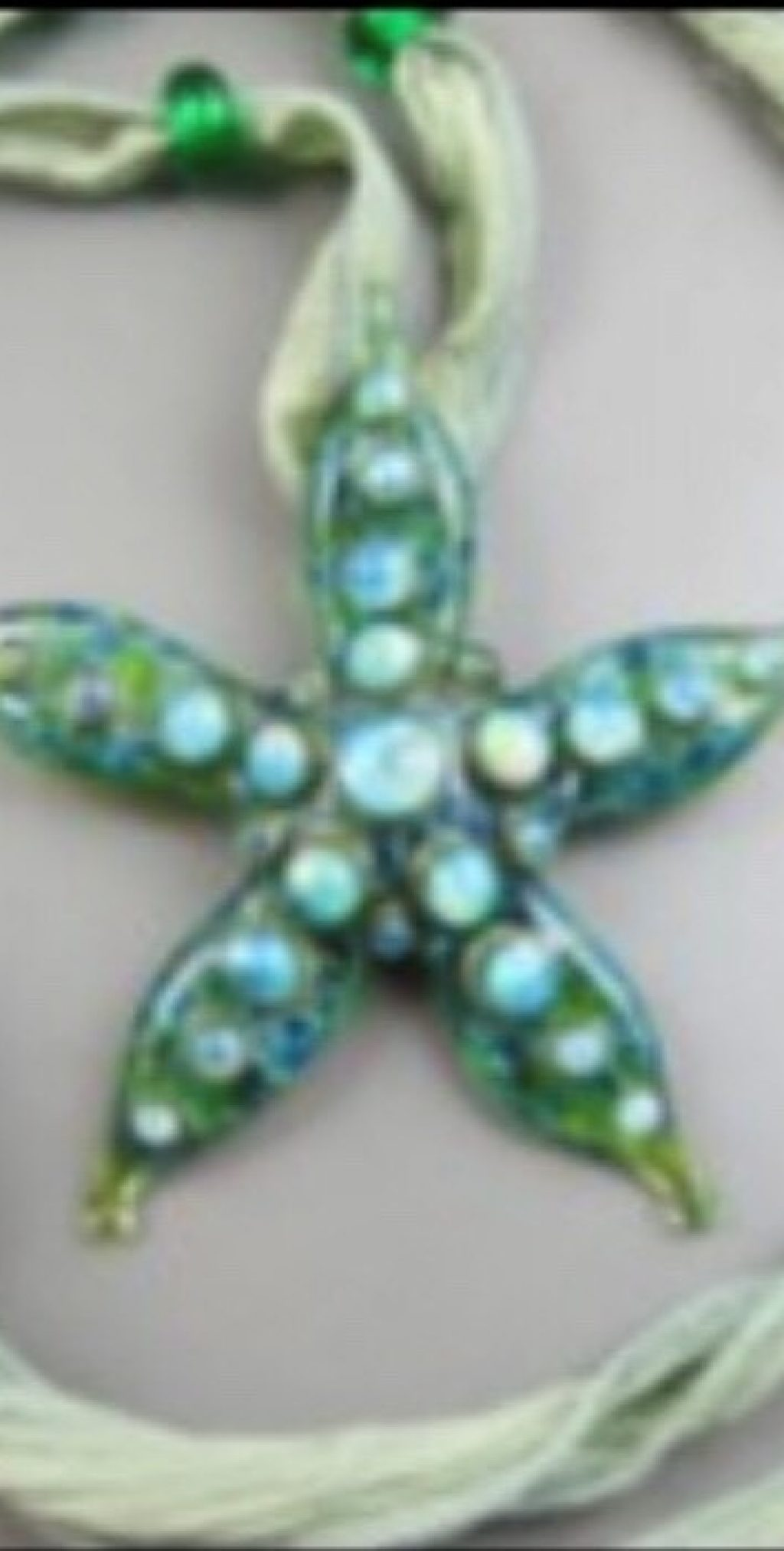 Emerald Sea Star Necklace - Adjustable